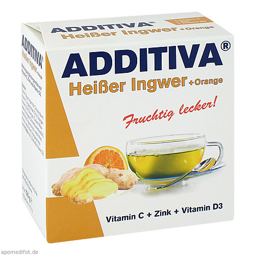 ADDITIVA Heißer Ingwer + Orange, 120 G, Dr.B.Scheffler Nachf. GmbH & Co. KG