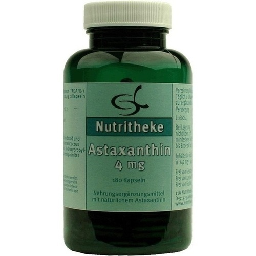 Astaxanthin 4mg, 180 ST, 11 A Nutritheke GmbH