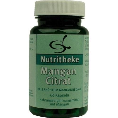 Mangan Citrat, 60 ST, 11 A Nutritheke GmbH