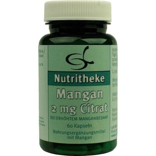 Mangan 2mg Citrat, 60 ST, 11 A Nutritheke GmbH