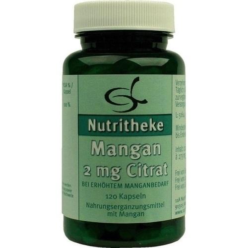 Mangan 2mg Citrat, 120 ST, 11 A Nutritheke GmbH