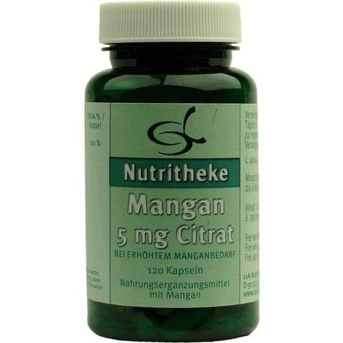 Mangan 5mg Citrat, 120 ST, 11 A Nutritheke GmbH