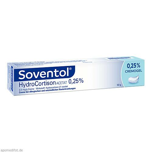 Soventol Hydrocortisonacetat 0.25%, 50 G, Medice Arzneimittel Pütter GmbH & Co. KG