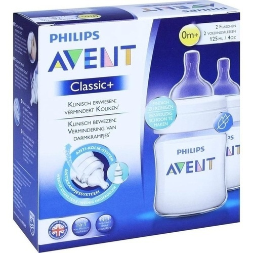 Avent Klassik+ Flasche 125ml 2er Pack, 2 ST, Philips GmbH