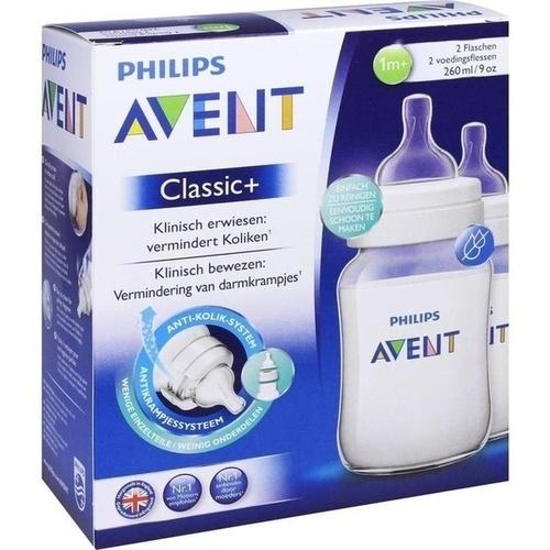 Avent Klassik+ Flasche 260ml 2er Pack, 2 ST, Philips GmbH