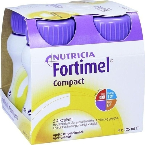Fortimel Compact 2.4 Aprikosengeschmack, 4X125 ML, Nutricia GmbH