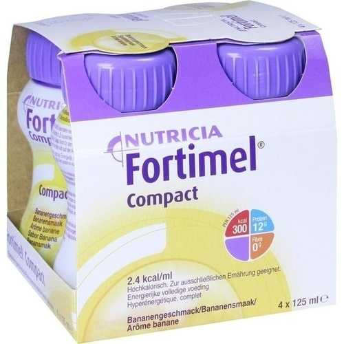 Fortimel Compact 2.4 Bananengeschmack, 4X125 ML, Nutricia GmbH