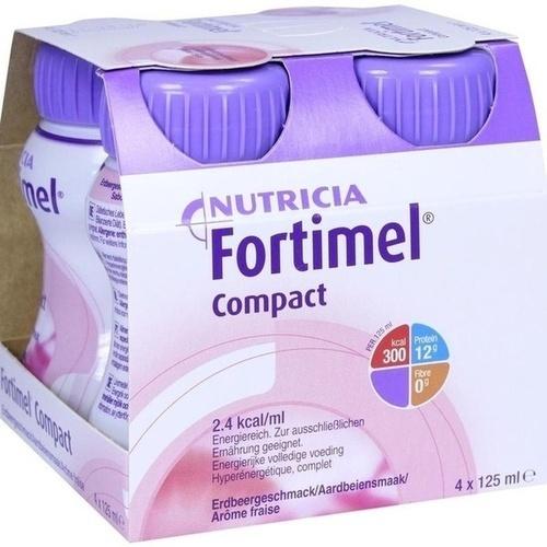 Fortimel Compact 2.4 Erdbeergeschmack, 4X125 ML, Nutricia GmbH