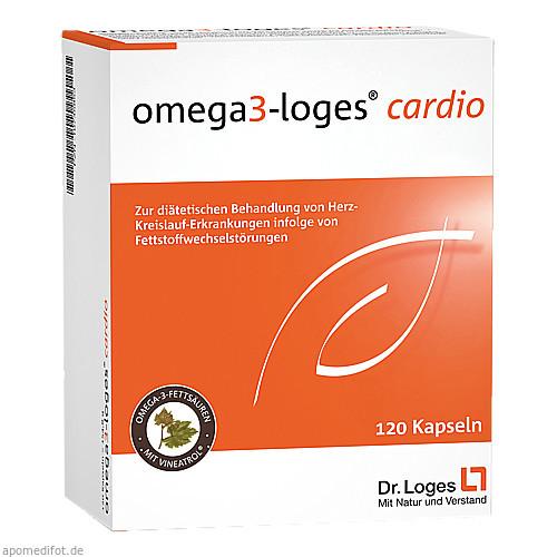 OMEGA 3-Loges cardio Kapseln, 120 ST, Dr. Loges + Co. GmbH