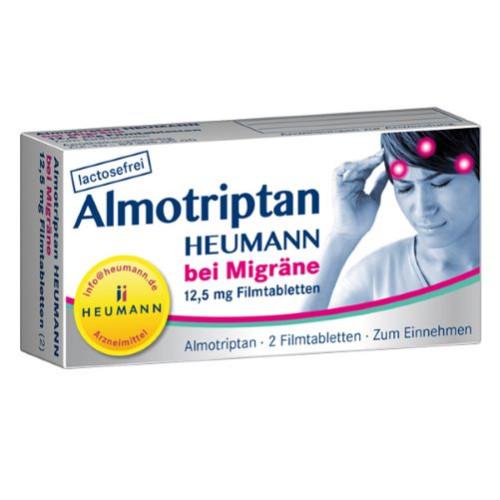 ALMOTRIPTAN Heumann bei Migräne 12,5 mg Filmtabl., 2 ST, HEUMANN PHARMA GmbH & Co. Generica KG