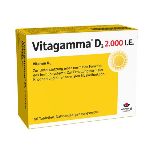 Vitagamma D3 2.000 I.E.Vitamin D3 NEM, 50 ST, Wörwag Pharma GmbH & Co. KG