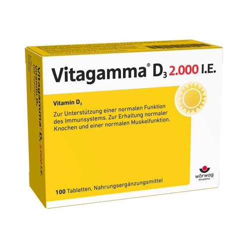 Vitagamma D3 2.000 I.E.Vitamin D3 NEM, 100 ST, Wörwag Pharma GmbH & Co. KG