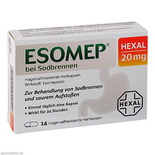 ESOMEP HEXAL bei Sodbrennen 20mg, 14 ST, HEXAL AG