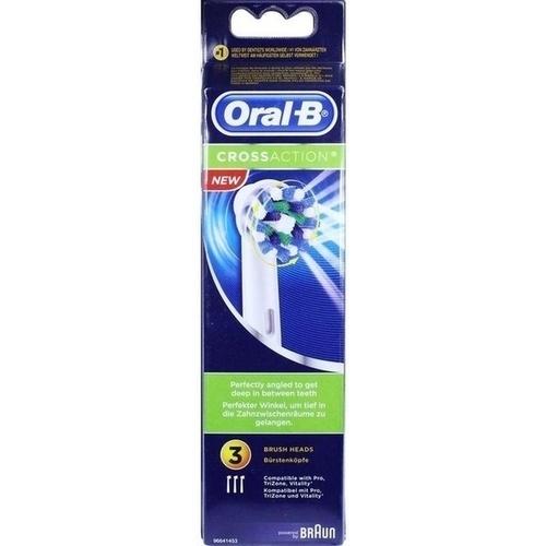 Oral-B Cross Action Aufsteckbürste 3er, 3 ST, Wick Pharma / Procter & Gamble GmbH