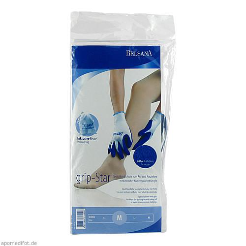 BELSANA grip-Star Spezialhandschuhe Gr. M, 2 ST, Belsana Medizinische Erzeugnisse