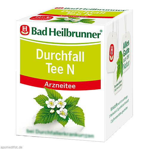 Bad Heilbrunner Durchfall Tee N, 8X1.5 G, Bad Heilbrunner Naturheilmittel GmbH & Co. KG