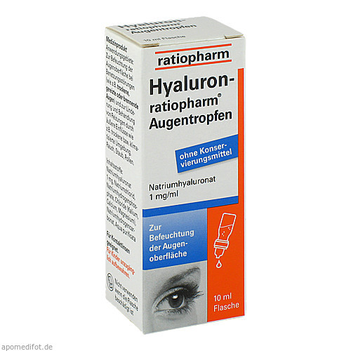 Hyaluron-ratiopharm Augentropfen, 10 ML, ratiopharm GmbH