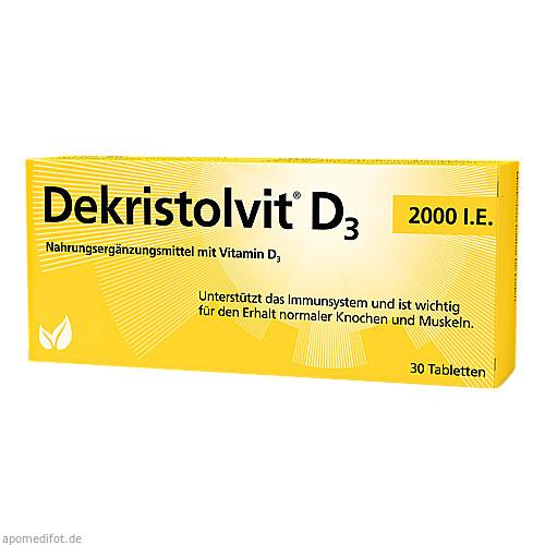 Dekristolvit D3 2000 I.E., 30 ST, Hübner Naturarzneimittel GmbH
