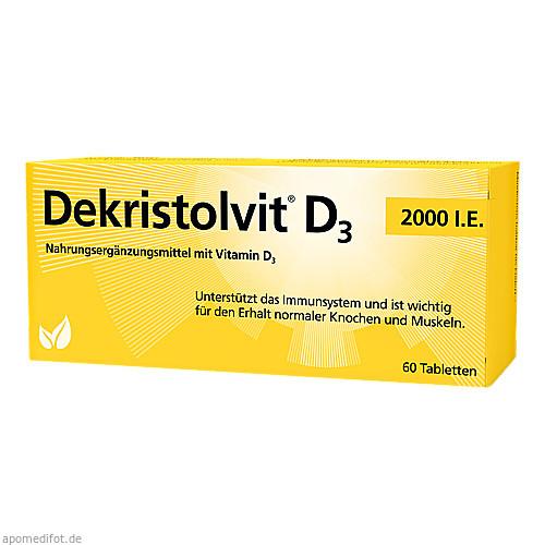 DEKRISTOLVIT D3 2.000 I.E. Tabletten, 60 ST, Hübner Naturarzneimittel GmbH