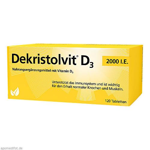 Dekristolvit D3 2000 I.E., 120 ST, Hübner Naturarzneimittel GmbH