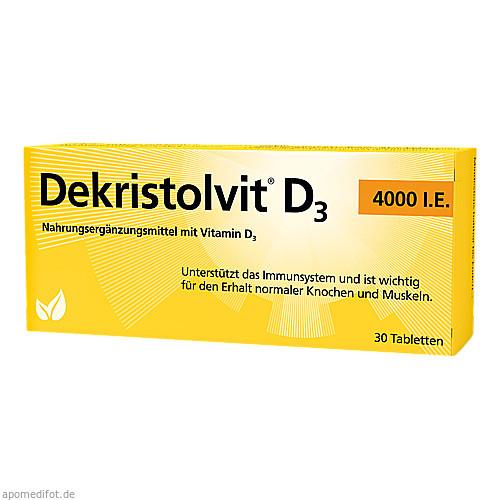 Dekristolvit D3 4000 I.E., 30 ST, Hübner Naturarzneimittel GmbH
