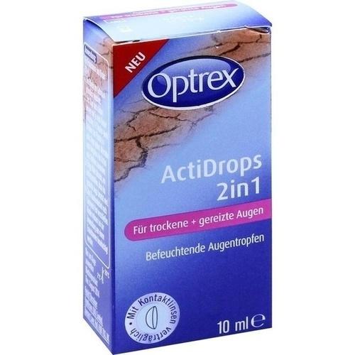 Optrex ActiDrops 2in1 trockene+gereizte Augen, 10 ML, Reckitt Benckiser Deutschland GmbH