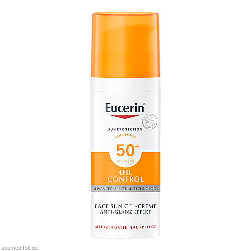 Eucerin Sun Gel-Creme Oil Contr.Anti-Gl.Eff.LSF50+, 50 ML, Beiersdorf AG Eucerin