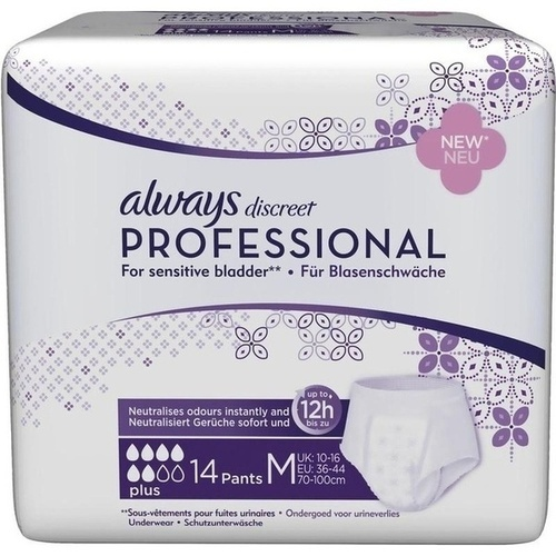 ALWAYS discreet professional Pants plus medium, 14 ST, Procter & Gamble GmbH