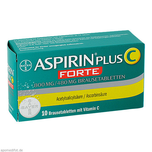 Aspirin plus C forte 800mg/480 mg Brausetabletten, 10 ST, Bayer Vital GmbH