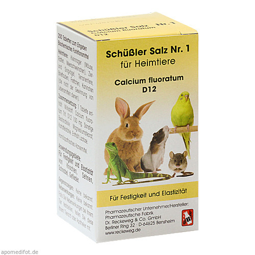SCHÜSSLER SALZ Nr.1 Calcium fluor.D 12 f.Heimtiere, 200 ST, Dr.RECKEWEG & Co. GmbH