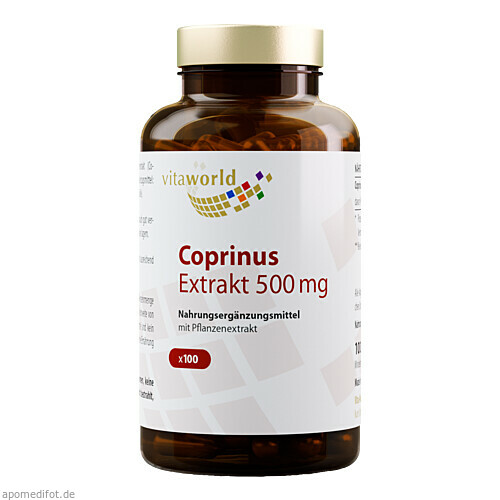 Coprinus Extrakt 500mg, 100 ST, Vita World GmbH