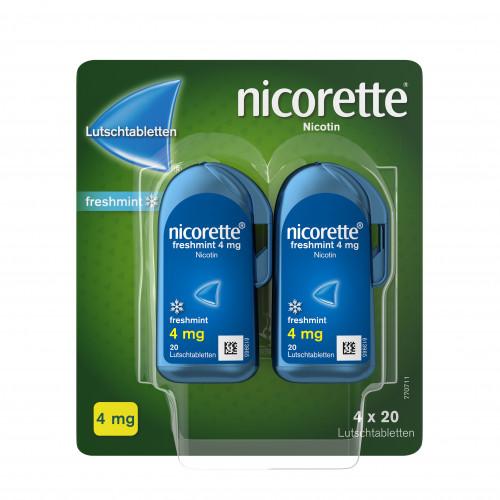 Nicorette freshmint 4mg Lutschtablette gepresst, 80 ST, Johnson & Johnson GmbH (Otc)