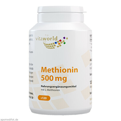 Methionin 500mg, 120 ST, Vita World GmbH