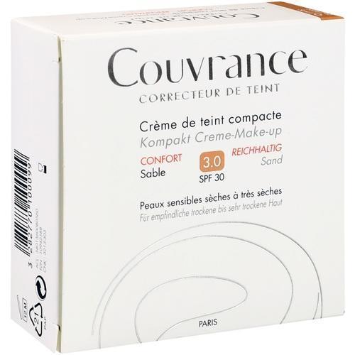 AVENE Couvrance Kompakt Cr.-Make-up reich. Sand3.0, 10 G, Pierre Fabre Pharma GmbH