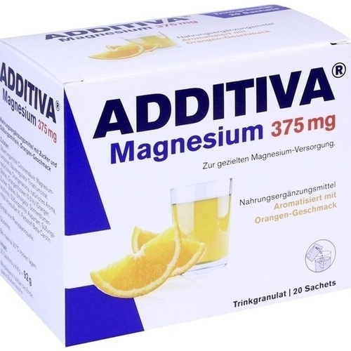 ADDITIVA Magnesium 375mg Granulat Orange, 20 ST, Dr.B.Scheffler Nachf. GmbH & Co. KG