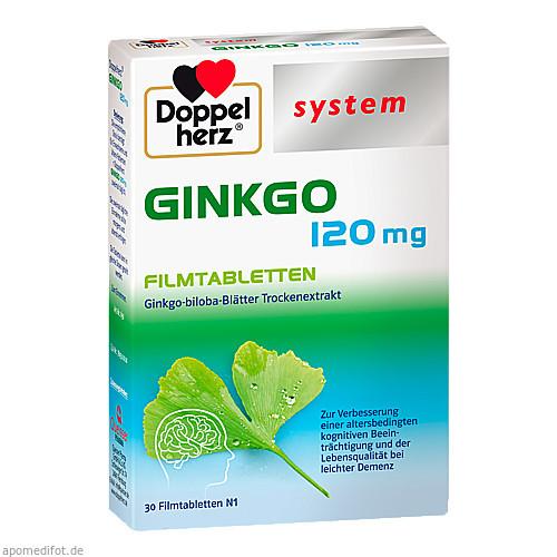 Doppelherz Ginkgo 120 mg system, 30 ST, Queisser Pharma GmbH & Co. KG