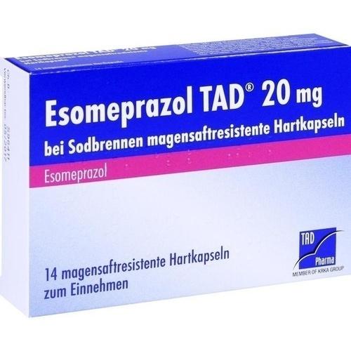 Esomeprazol TAD 20mg bei Sodbrennen, 14 ST, TAD Pharma GmbH