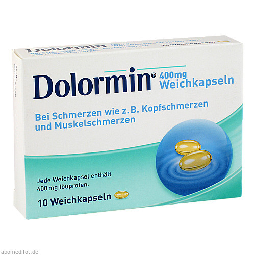 DOLORMIN 400 mg Weichkapseln, 10 ST, Johnson & Johnson GmbH (OTC)