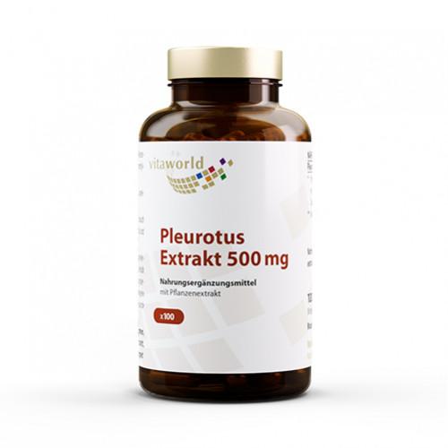 Pleurotus Extrakt 500mg, 100 ST, Vita World GmbH