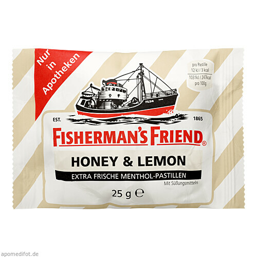 Fisherman¦s Friend Honey & Lemon ohne Zucker, 25 G, Wepa Apothekenbedarf GmbH & Co. KG