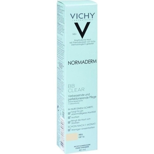 VICHY NORMADERM BB Clear Creme hell LSF 16, 40 ML, L'Oreal Deutschland GmbH
