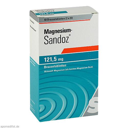 Magnesium-Sandoz 121.5mg Brausetablette, 40 ST, HEXAL AG