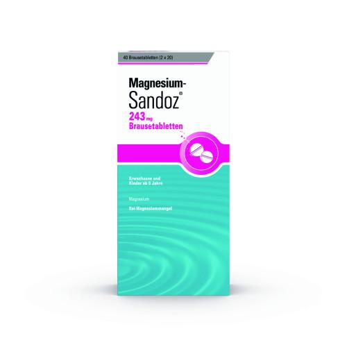 Magnesium-Sandoz 243mg Brausetablette, 40 ST, HEXAL AG