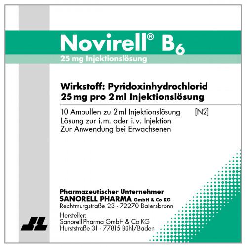 Novirell B6 25mg Injektionslösung, 10X2 ML, sanorell pharma GmbH & Co KG