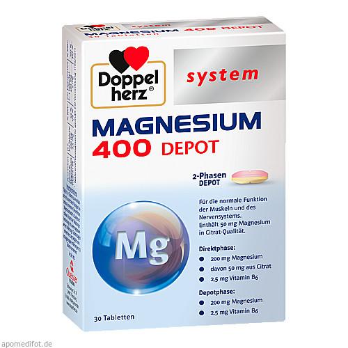 Doppelherz Magnesium 400 Depot system, 30 ST, Queisser Pharma GmbH & Co. KG