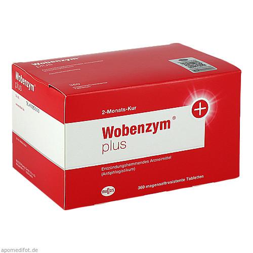 WOBENZYM Plus magensaftresistente Tabletten, 360 ST, MUCOS Pharma GmbH & Co. KG