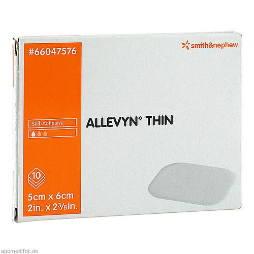 Allevyn Thin 5x6cm dünne Wundauflage, 10 ST, Eurimpharm Arzneimittel GmbH