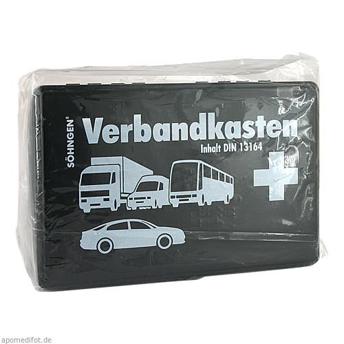 KFZ-Verbandkasten KU schwarz mit Füll. St DIN13164, 1 ST, W.Söhngen GmbH