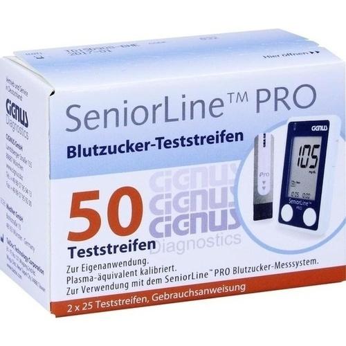 SeniorLine PRO Cignus Blutzucker-Teststreifen, 2X25 ST, Cignus GmbH