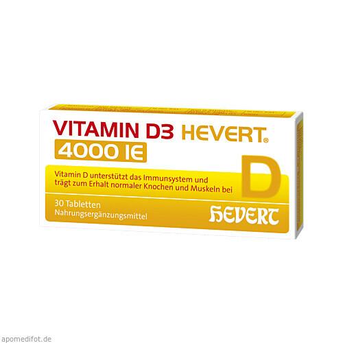 Vitamin D3 Hevert 4000 IE, 30 ST, Hevert Arzneimittel GmbH & Co. KG